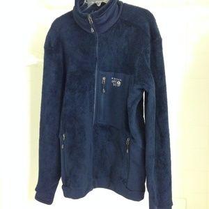 Mountain Hardwear Blue Fleece Jacket in L